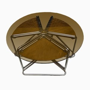 Glass and Plywood Coffee Table