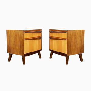 Nighstands with Compass Feet, 1970s, Set of 2