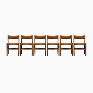 Dordogne Chairs by Charlotte Perriand for Sentou, 1950s, Set of 6