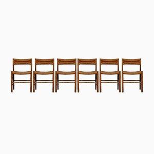 Dordogne Stühle von Charlotte Perriand für Sentou, 1950er, 6er Set