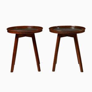 Tables by Tove Kindt-Larsen for H. M. Birekdal Hansen & Sön, Denmark, 1936, Set of 2