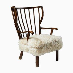 Wingback Chair, Denmark, 1940s