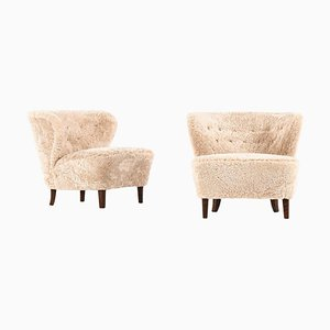 Easy Chairs by Gösta Jonsson, Sweden, Set of 2