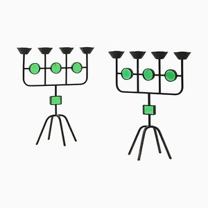 Candlesticks by Gunnar Ander for Ystad Metall, Sweden, Set of 2