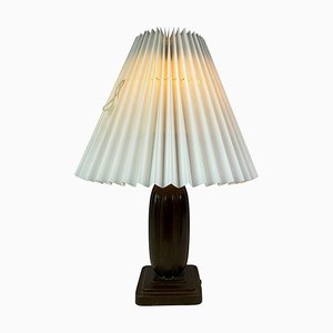 Table Lamp in Disco Metal with Paper Shade by Just Andersen, 1930s