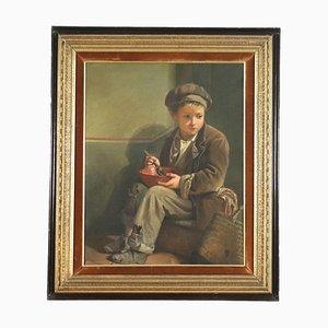 Ritratto di bambino, olio su tela