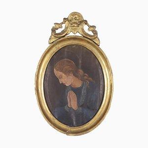 Madonna Orantes, Öl auf Leinwand