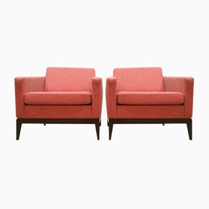 Mid-Century Cubic Lounge Chairs by Theo Ruth for Artifort, Set of 2
