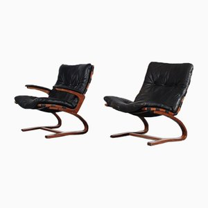Easy Chairs by Ingmar Relling for Westnofa, Norway, 1970s, Set of 2