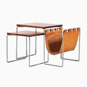 Nesting Tables with Magazine Rack by Brabantia, Netherlands, 1960s