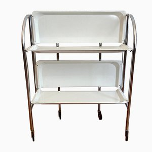 Dinett Serving Trolley with White Trays, 1970s