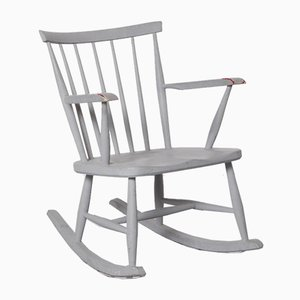 Spindle Back Rocking Chair in Grey from Pastoe