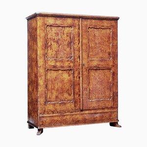 19th Century Traditional Swedish Ragwork Pine Cupboard