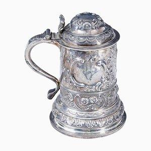 George I Rokoko Silberkrug mit Deckel von John Penfold