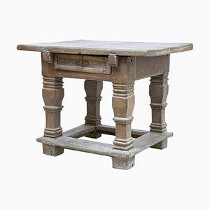 17th Century Flemish Carved Oak Side Table