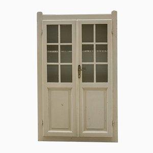 Italienischer Jugendstil Wandschrank aus Holz mit Türen, 1950er