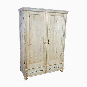 Brocante Pine 2-Door Cabinet, 1920s
