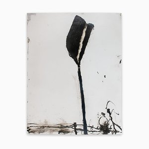 Stem in Black #1, 2018, Abstract Painting