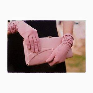 Pinke Handschuhe, Goodwood, Chichester, Feminine Fashion, 2009, Farbfotografie
