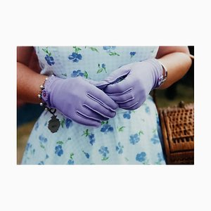 Lilac Gloves, Goodwood, Chichester, Feminine Fashion, 2009, Color Photography