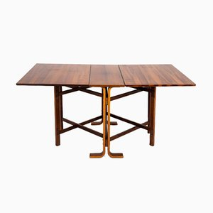 Rosewood Drop-Leaf Dining Table by Bendt Winge for Kleppe