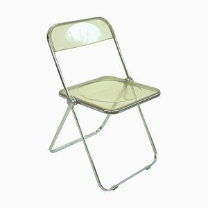 Italian Chrome and Lucite Plia Folding Chair by G. Piretti for Castelli, 1960s