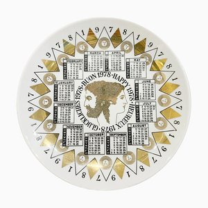 Calendar Porcelain Plate for the Year 1978 by Piero Fornasetti