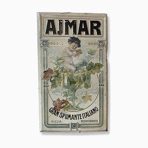 Ajmar Gran Spumante Italia Sign, 1910s