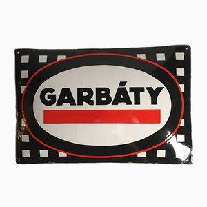 Cartel Garbaty vintage esmaltado, años 20