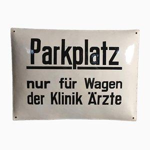 Vintage Enamel Doctors' Parking Sign, 1920s