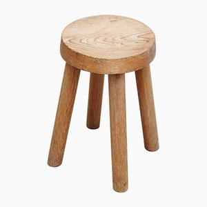 Wood Stool by Charlotte Perriand for Les Arcs, 1960s