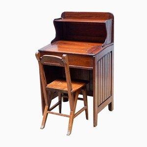 Silla y escritorio modernistas, principios del siglo XX. Juego de 2