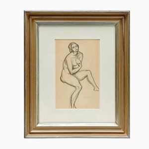 Andre Lhote, Drawing in Pencil, Framed