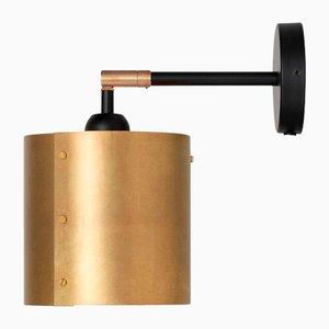 Svep Brass Wall Lamp from Konsthantverk