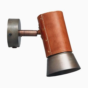 Kusk Leather and Iron Wall Lamp by Sabina Grubbeson for Konsthantverk