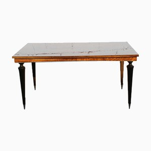 Mid-Century French High Gloss Dining Table in Rosewood