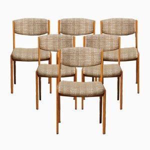 Französische Vintage Boucle Stühle im dänischen Stil, 6er Set