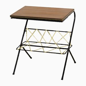 Mid-Century French Magazine Rack or Side Table