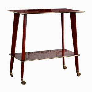 Mid-Century French Teak Serving Trolley