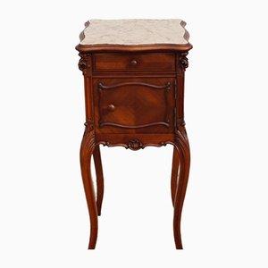 Französischer Vintage viktorianischer Nachttisch oder Konsole