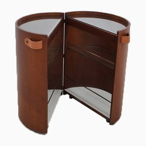 Italian Round Dry Bar Cabinet, 1960s