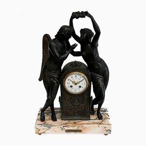 Pendulum Regulating Psyche Crowning Love by Claude Michallon, 1900s
