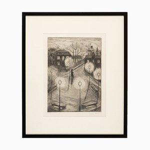 Night Watchman, Print, Framed