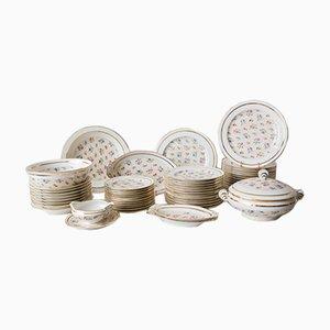 Floral Tableware in Limoges Porcelain, Set of 59