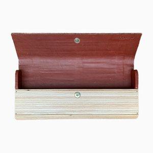 Bolso alemán de madera y cuero de René Vater Object Design