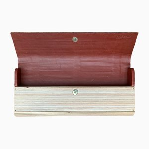 German Wood and Leather Bag by René Vater Object Design