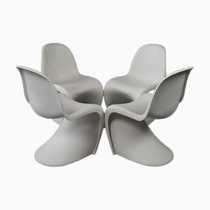 Panton Chairs by Verner Panton for Vitra, Set of 4