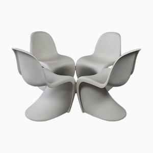 Panton Stühle von Verner Panton für Vitra, 4er Set