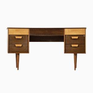 Walnuss und Buche Schreibtisch von Gunther Hoffstead für Uniflex, 1960er