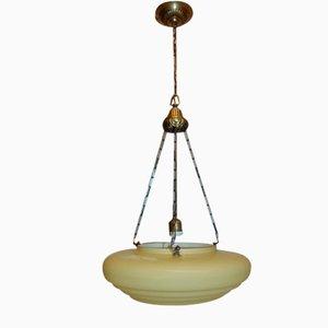 Art Deco Messing Kronleuchter und Lampe